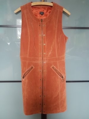 Pepe Leather Dress brown