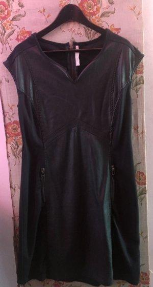 Cream Leren jurk donkergrijs-antraciet
