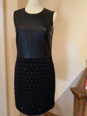 Steffen Schraut Leren jurk zwart