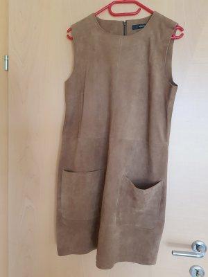 Hallhuber Leren jurk bruin