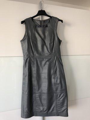 Leren jurk grijs Leer