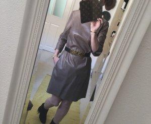 Closed Leren jurk grijs-bruin