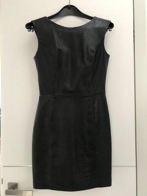 Mango Suit Leren jurk zwart