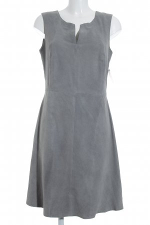 Leather Dress light grey party style