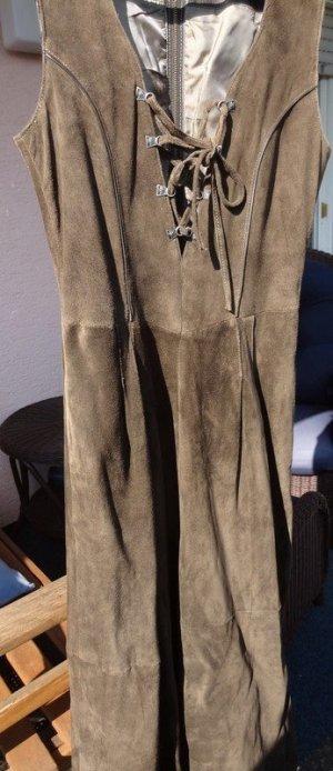 Lederkleid im Trachtenstil, braun, passt einer Gr. 36