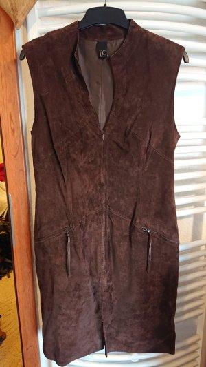 BC Leren jurk bruin-donkerbruin