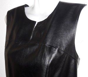 United Colors of Benetton Leren jurk zwart Imitatie leer