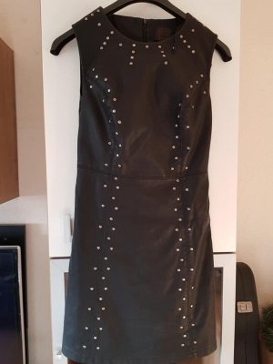 Only Leather Dress black-silver-colored