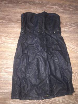 Lederkleid schwarz 38