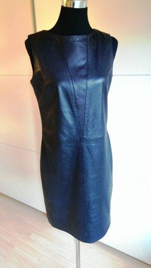 Lederkleid schwarz, perforiertes Nappa von HUGO