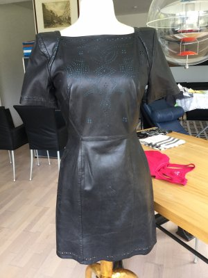 French Connection Leather Dress black-petrol