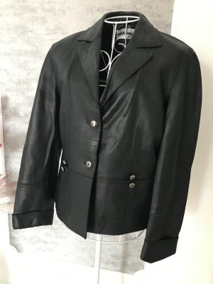 BIBA pariscop Leather Blazer black leather