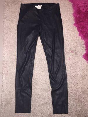 Cinque Pantalone in pelle nero Poliestere
