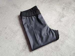 Blue Motion Legging noir faux cuir