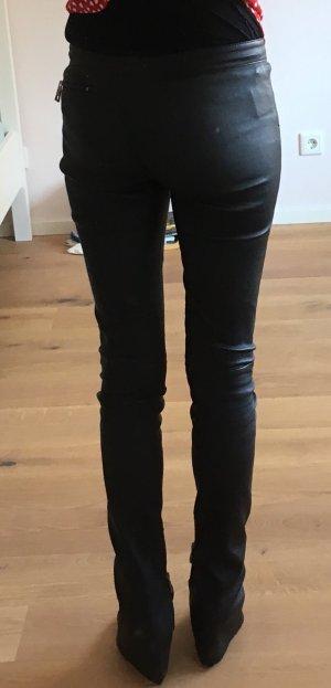 Sly 010 Pantalon en cuir noir cuir