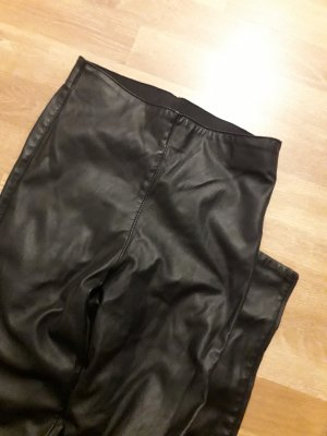 H&M Leather Trousers black