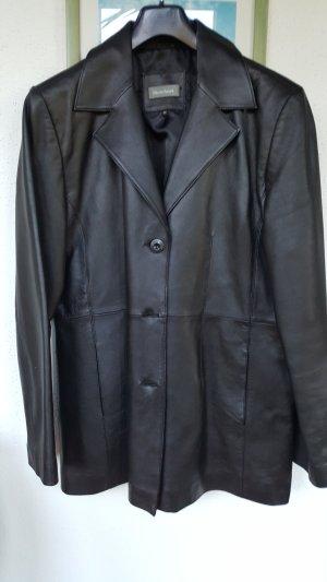 Vittoria Verani Abrigo de cuero negro Cuero