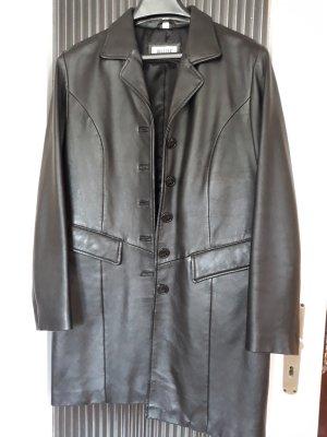 Helline Manteau en cuir noir