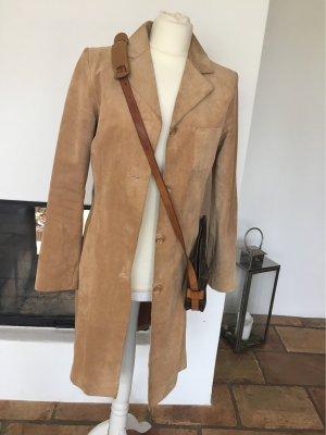 TCM Manteau en cuir chameau
