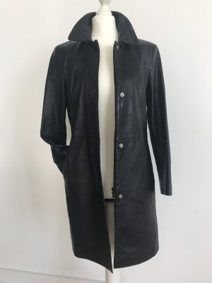 Benetton Leather Coat black