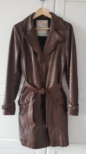 Miracle Of Denim Leather Coat brown leather