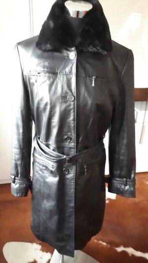 Tchibo / TCM Manteau en cuir noir