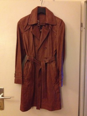 Leather Coat brown leather