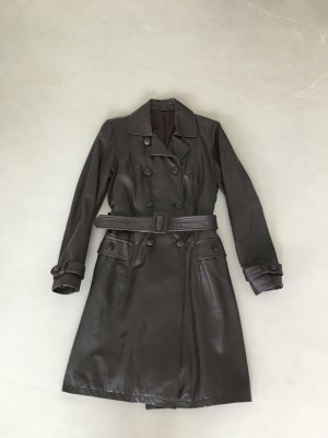 Orsay Leather Coat black brown leather