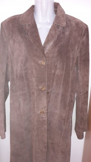 Tchibo / TCM Leather Coat brown leather