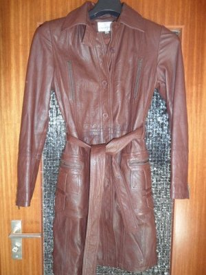 Peek & Cloppenburg Leather Coat brown-cognac-coloured leather