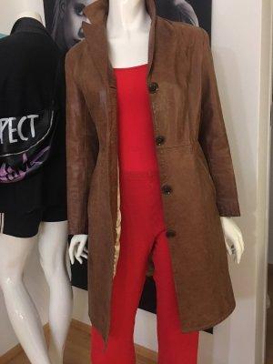 Vera Pelle Leather Coat light brown