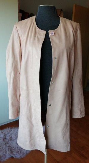 SAKI Sweden Leather Coat dusky pink