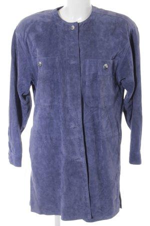 Abrigo de cuero azul aciano