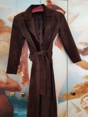 Max Mara Leather Coat grey brown
