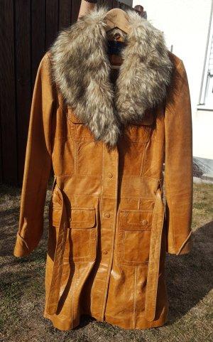 Only Veste longue brun cuir
