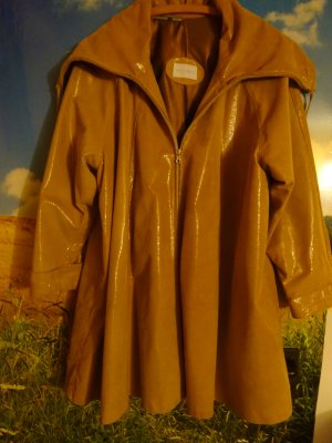 Armani Leather Coat camel leather