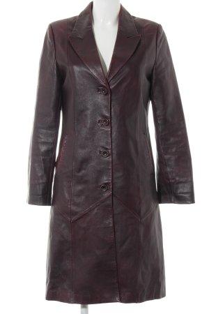 Cappotto in pelle viola stile casual