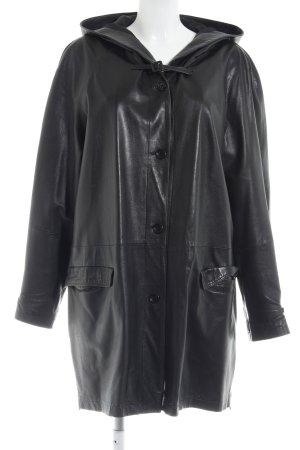 Leren jas zwart casual uitstraling