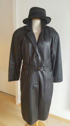 Ledermantel schwarz Größe 38