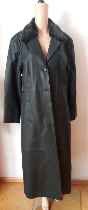 Joy Manteau en cuir noir cuir