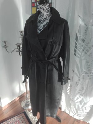 Ledermantel/Trench, schwarz, Größe 40/42 *modisch*elegant*gothic*