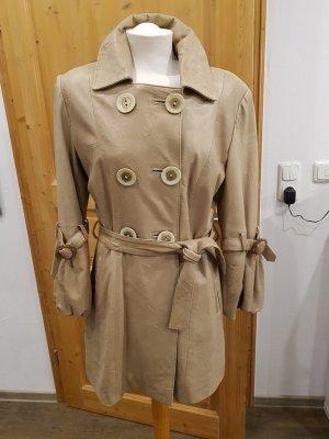 Ledermantel/Trenchcoat in beige tolles Modell