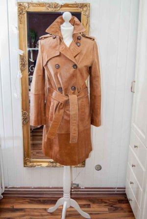 Ledermantel Trenchcoat Zara cognac Gr. 36/38