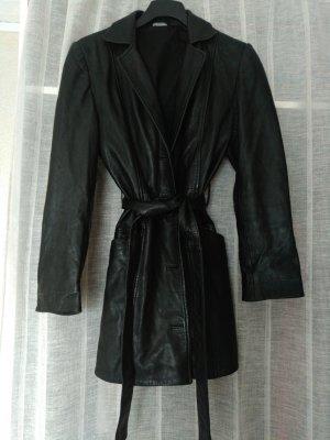 3 Suisses Leather Jacket black