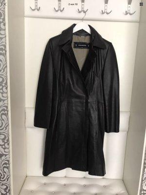 Ashwood Leather Coat black leather