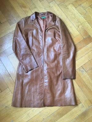 Benetton Cappotto in pelle cognac