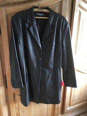 Dibari Leren jas zwart