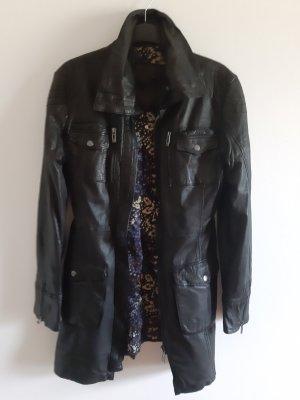 Maze Leather Coat black