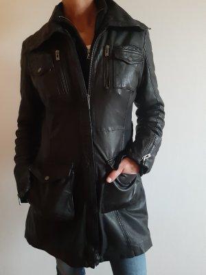 Maze Cappotto in pelle nero