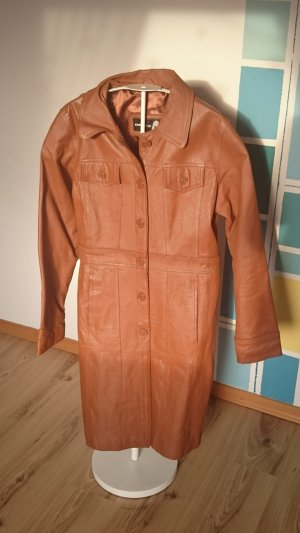 Only Leather Coat cognac-coloured